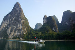 Yu Long river landscape in Yangshuo, Guilin, Guanxi, China Stock Images