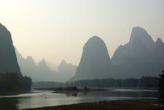 Yu Long river landscape in Yangshuo, Guilin, Guanxi, China Stock Photo