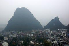 Yu Long river landscape in Yangshuo, Guilin, Guanxi, China Stock Photos