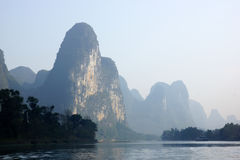 Yu Long river landscape in Yangshuo, Guilin, Guanxi province, China Stock Images