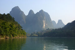 Yu Long river landscape in Yangshuo, Guilin, Guanxi province, China Royalty Free Stock Photography
