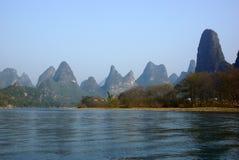 Yu Long river landscape in Yangshuo, Guilin, Guanxi province, China Royalty Free Stock Photos
