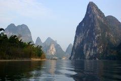 Yu Long river landscape in Yangshuo, Guilin, Guanxi province, China Royalty Free Stock Photo