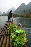 Yu Long river landscape in Yangshuo, Guilin, Guanxi province, China Stock Photography