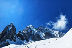 Yu long Snow-capped mountain Stock Images