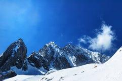 Yu long Snow-capped mountain. At Lijiang Yunnan Ching Stock Images