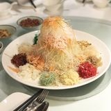 yu Sheng Chinese New Year Royaltyfri Bild