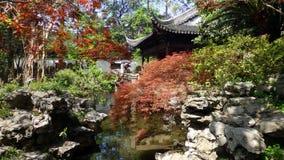 Yu trädgård, i gamla Shanghai arkivfoton