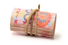 100 yuan Arkivbild