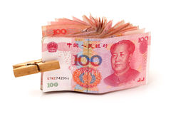 100 yuan Imagen de archivo libre de regalías