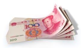 Yuan Bank Notes Spread Royalty Free Stock Image