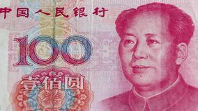 Yuan-Banknote von China stock video footage