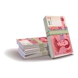 Yuan banknotes  illustration, financial them Royalty Free Stock Photo