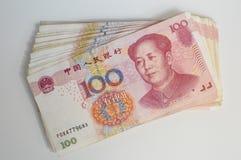 Yuan. Banknotes of one hundred yuan Stock Photo