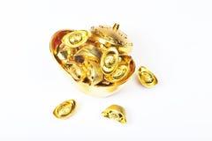 Yuan Bao - kinesisk guld- sycee Royaltyfria Foton