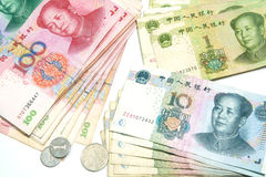 Yuan, China money background Royalty Free Stock Photo