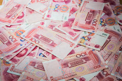 100 Yuan, Chinese money Stock Images