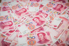 100 Yuan, Chinese money Stock Photos