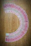 100 Yuan, chinesisches Geld Stockfoto