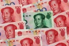 Yuan chino Imágenes de archivo libres de regalías