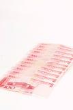 Yuan chinois de 100 avec le blanc pour le texte Images stock