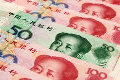 Yuan cinese Fotografia Stock