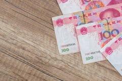 100 yuan cinesi Immagine Stock Libera da Diritti
