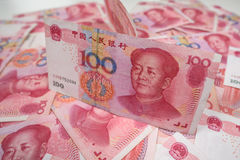 100 yuan cinesi Fotografie Stock Libere da Diritti