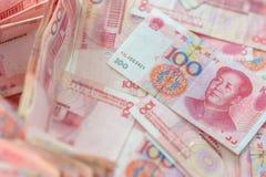 100 yuan cinesi Immagini Stock Libere da Diritti