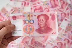 100 yuan cinesi Fotografia Stock Libera da Diritti