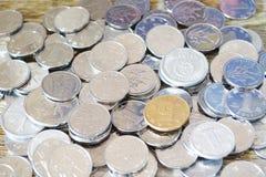 Yuan cinesi dei soldi e primo piano della moneta Immagine Stock Libera da Diritti