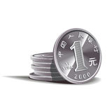 Yuan coins  illustration, financial theme Stock Photo