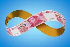 Yuan de oro infinito imagen de archivo libre de regalías