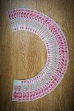100 Yuan, dinheiro chinês Foto de Stock