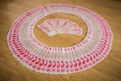 100 Yuan, dinheiro chinês Imagens de Stock Royalty Free