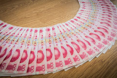 100 Yuan, dinheiro chinês Fotografia de Stock