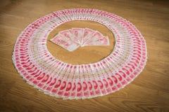 100 Yuan, dinheiro chinês Imagens de Stock