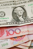 Yuan and Dollar Stock Images