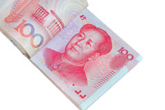 Yuan eller RMB, kinesisk valuta Arkivfoto