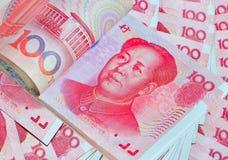Yuan eller RMB, kinesisk valuta Royaltyfri Bild