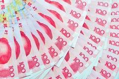 Yuan eller RMB, kinesisk valuta Arkivbilder