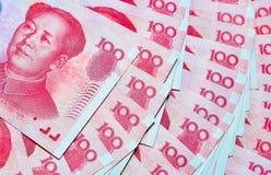 Yuan eller RMB, kinesisk valuta Royaltyfri Fotografi