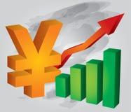 Yuan exchange rate Royalty Free Stock Photo