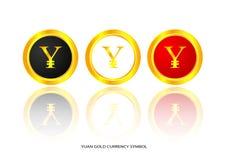 Yuan gold symbol Stock Photos