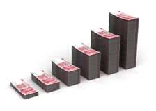 Yuan Graph Stock Photo