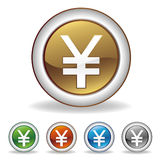 yuan icon Royalty Free Stock Photos