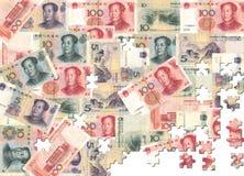 Yuan jigsaw background Stock Image