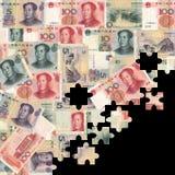 Yuan jigsaw background Stock Photography