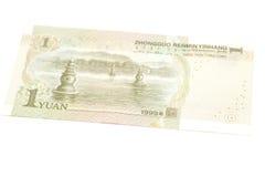 1 yuan kinesvaluta Arkivfoto