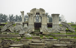 Yuan Ming Yuan Park. This is the ruins in the yuan ming yuan park. yuanmingyuan ,is also called the old summer palace, or garden of gardens. the park was stock photo